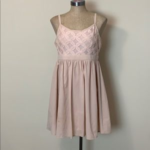 4/$16 Doe & Rae Mini Dress Blush Pink Large EUC